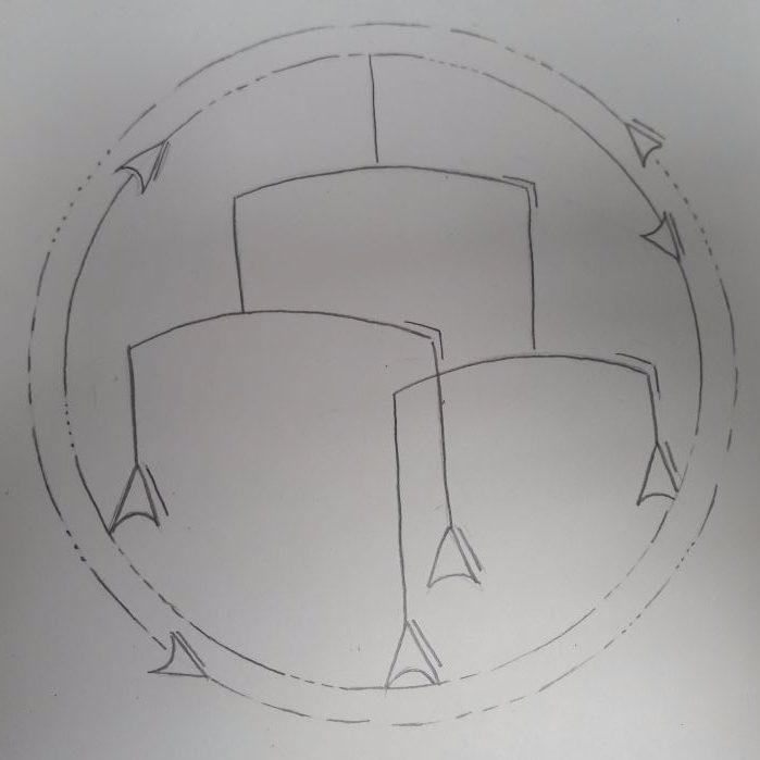 Logo Mobile Bleistiftzeichung